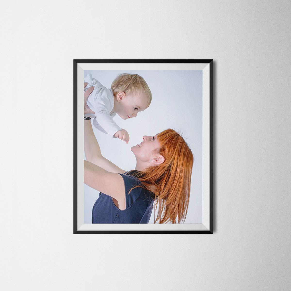 Fotografía de familia en estudio