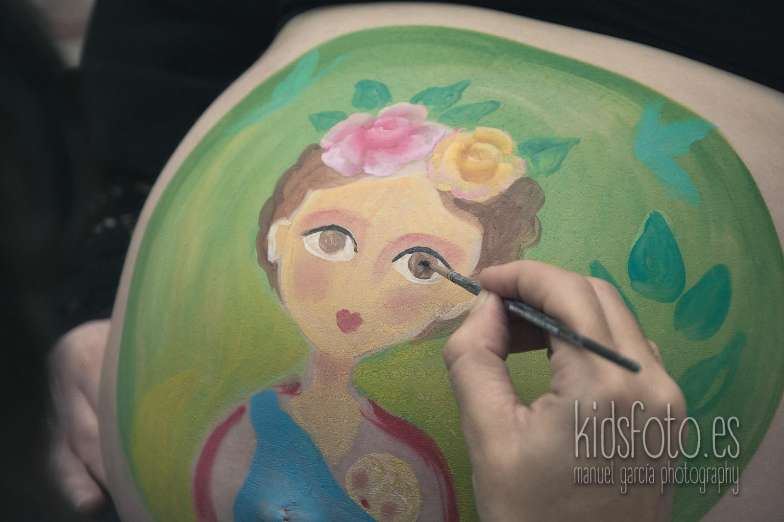 Body paint Belly paint Sesión fotografía Premamá Embarazo Zaragoza