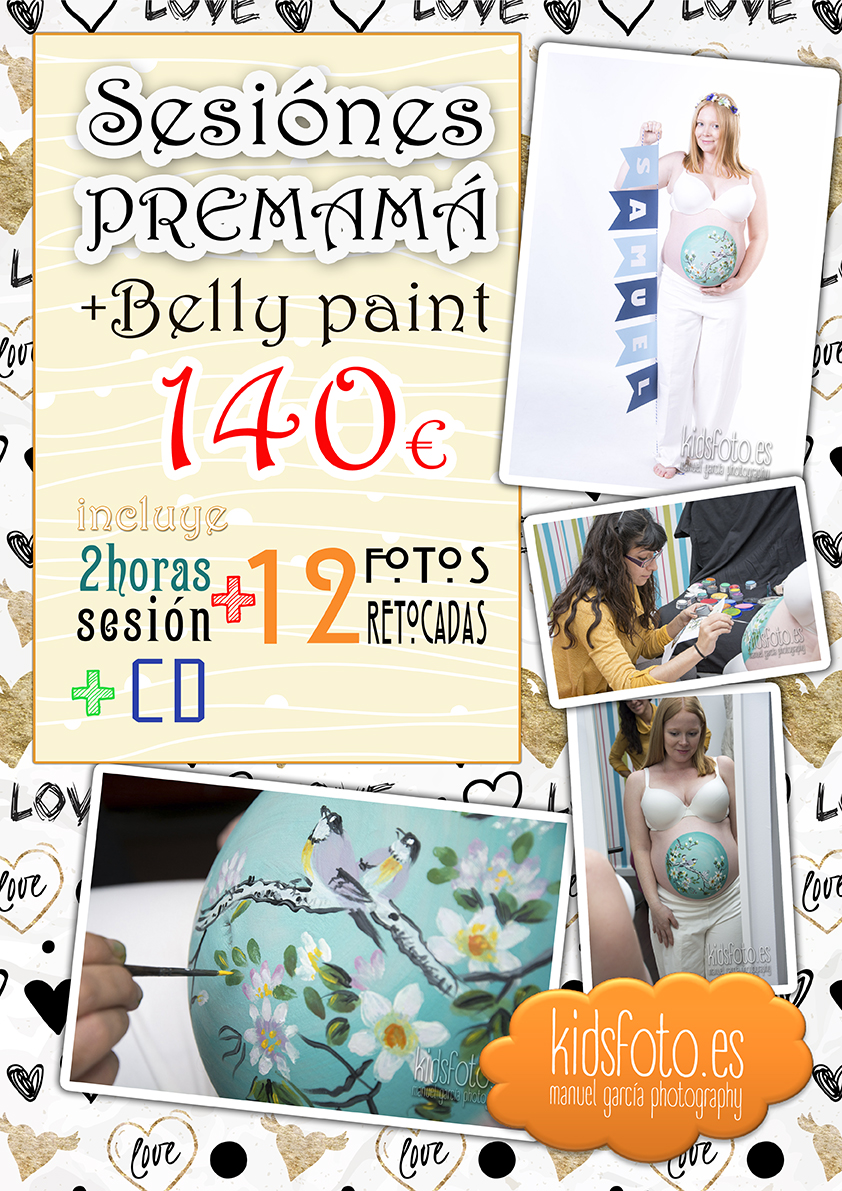 Fotografía Premamá Embarazo Bodypaint 8