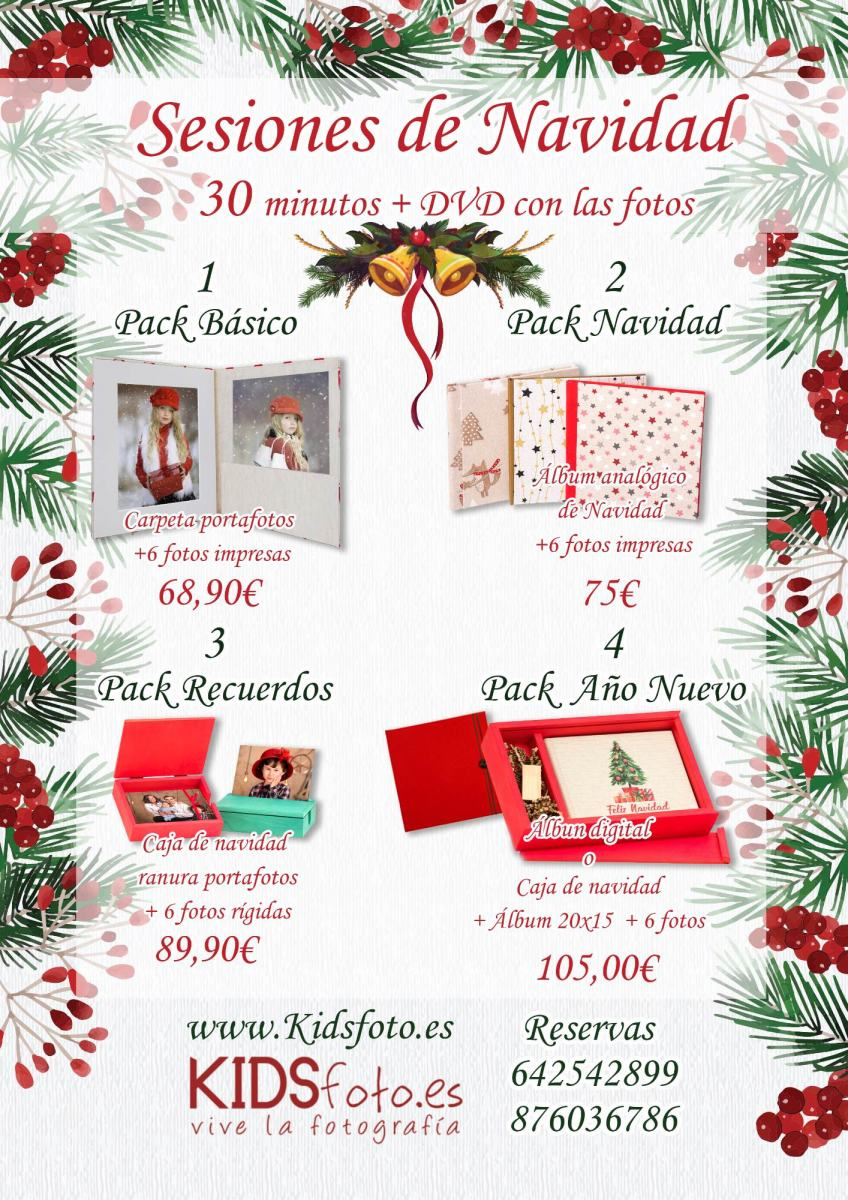 Campaña Fotográfica de Navidad, Detalles de navidad, fotografías de niños y familias en Zaragoza